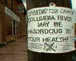 Residents in Northport, WA were forced to hang their own warning signs